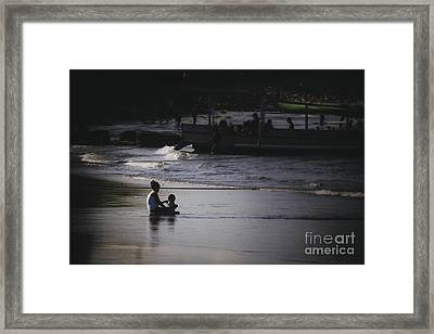 Mother And Child Framed Print by Soren Egeberg