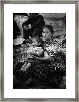Mother And Child Framed Print by Tom Bell