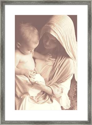 Madonna And Child Framed Print by Vienne Rea