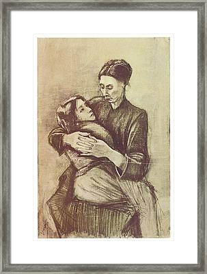 Mother And Child Framed Print by Vincent Van Gogh