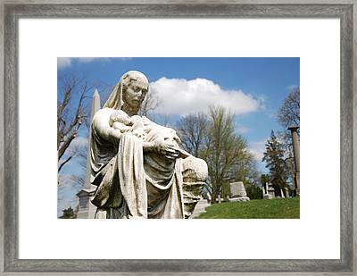 Mother And Children Framed Print by Jennifer Ancker