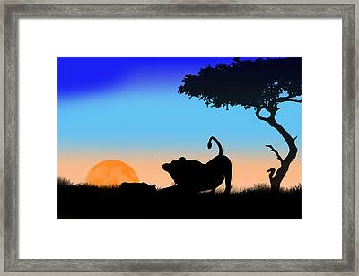 Mother And Cub Framed Print by Peter Stevenson