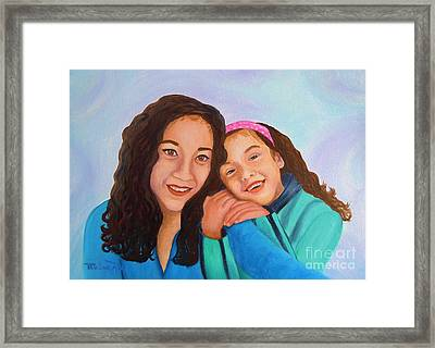 Mother And Daughter Framed Print by Pauline Ross