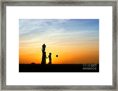 Mother And Daughter Framed Print by Tim Gainey