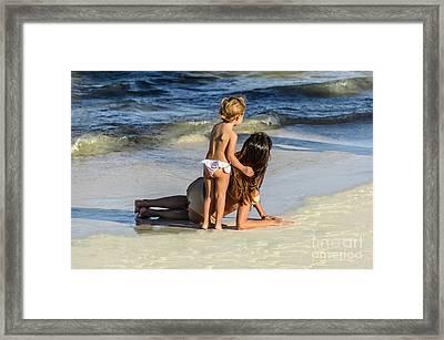 Mother And Daughter Framed Print by Viktor Birkus