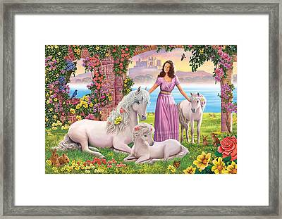 Mother And Foals Variant 1 Framed Print