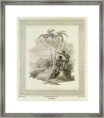 Mother And Infant Framed Print by British Library