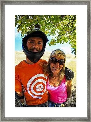 Mother And Son Fall 2014  Framed Print by Carl Warren