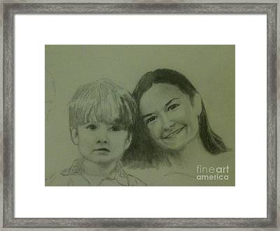 Mother And Son Framed Print by Frankie Thorpe