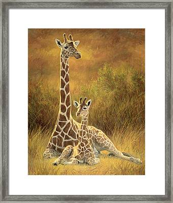 Mother And Son Framed Print by Lucie Bilodeau
