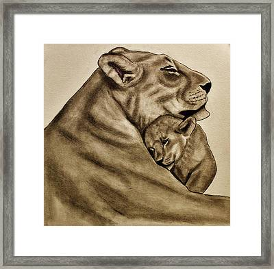 Mother And Son Framed Print by Michael Cross