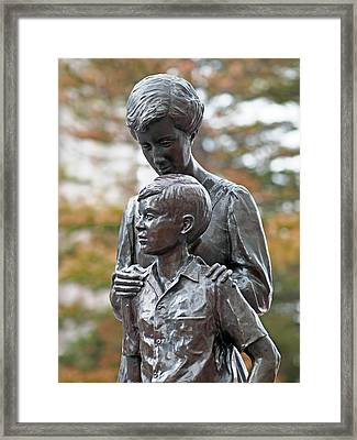 Mother And Son Framed Print by Rona Black