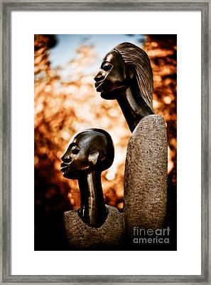 Mother And Son Framed Print by Venetta Archer