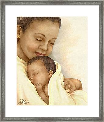 Mother Framed Print by Beverly Levi-Parker
