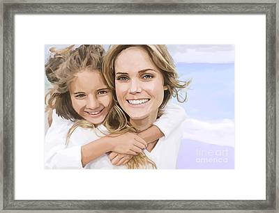 Framed Print featuring the painting Mother Daughter Portrait   by Tim Gilliland