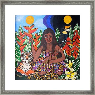 Mother Earth Sustains Framed Print by Jennifer Mourin
