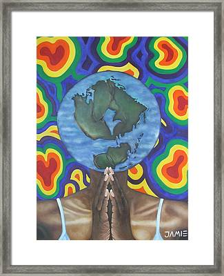 Mother Earth The Beginning Of Time Framed Print by Jamie Preston