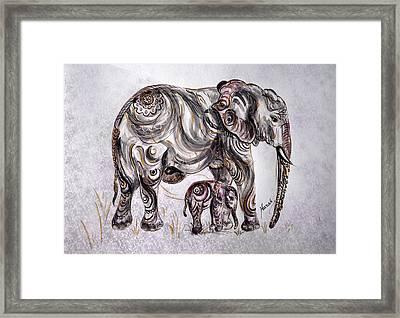 Mother Elephant Framed Print