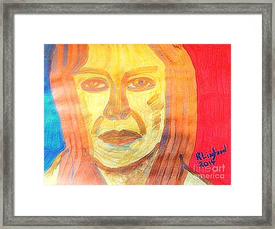 Mother Eve Gold Portrait 1 Framed Print by Richard W Linford