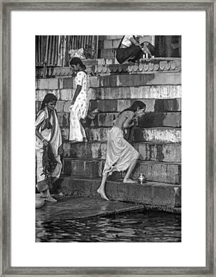 Mother Ganges Monochrome Framed Print by Steve Harrington