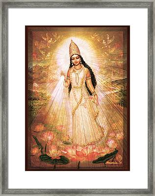 Mother Goddess With Angels Framed Print