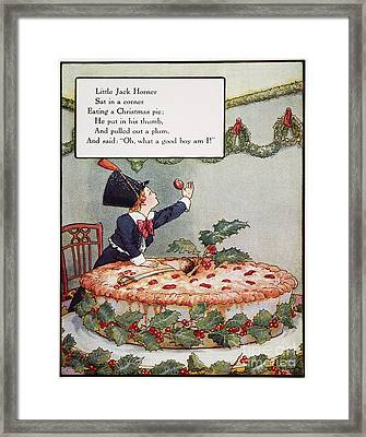 Mother Goose: Jack Horner Framed Print by Granger
