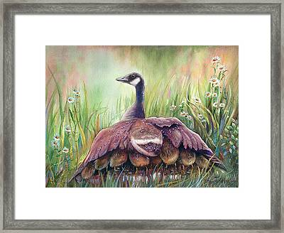 Mother Goose Framed Print by Patricia Schneider Mitchell
