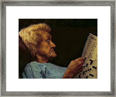 Mother Framed Print by Hazel Billingsley