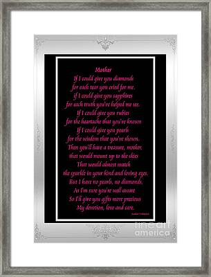 Mother If I Could Give You Framed Print by Barbara Griffin