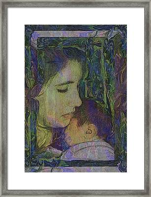 Mother Love Of Father Heart Framed Print