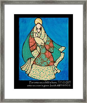 Mother Mary And Baby Jesus Framed Print