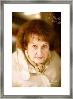 Mother My Darling - Mother My Dear . Framed Print by  Andrzej Goszcz