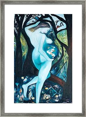 Pregnant Mother Nature Framed Print