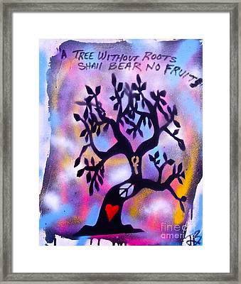 Mother Nature Tree Pink Framed Print by Tony B Conscious