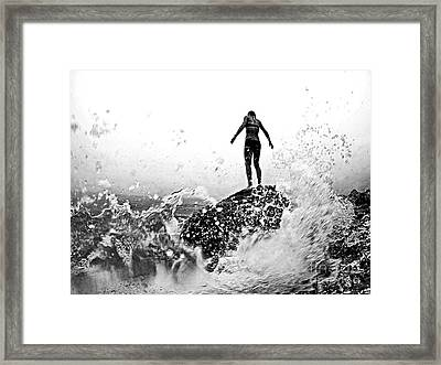 Mother Natures Fury Framed Print by Scott Allison