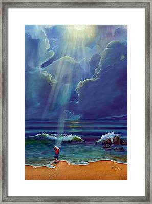Mother Nature's Kiss Framed Print by Stephen Kenneth Hackley