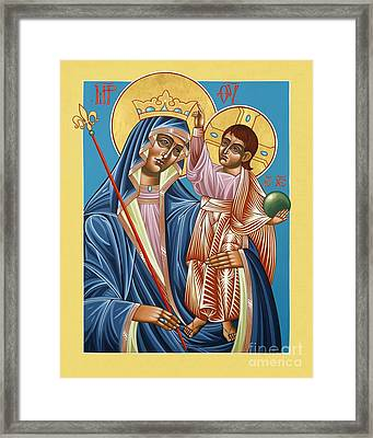 Framed Print featuring the painting Mother Of God Asking For Humility 143 by William Hart McNichols