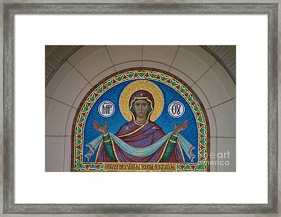 Mother Of God Mosaic Framed Print