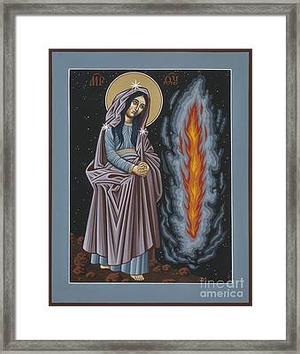 Framed Print featuring the painting Mother Of God Of Kosovo 087 by William Hart McNichols