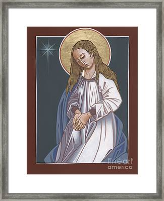 Framed Print featuring the painting Mother Of God Waiting In Adoration 248 by William Hart McNichols