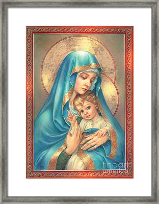Mother Of God Framed Print by Zorina Baldescu