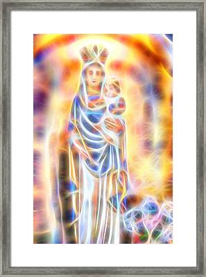 Framed Print featuring the painting Mother Of Light by Dave Luebbert