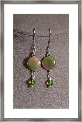 Mother Of Pearl And Peridot Framed Print by Jan Brieger-Scranton