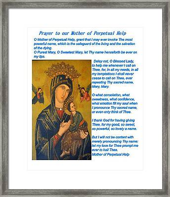 Mother Of Perpetual Help  Series 2 Framed Print by Jay Milo