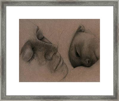 Framed Print featuring the drawing Mother by Penny Collins
