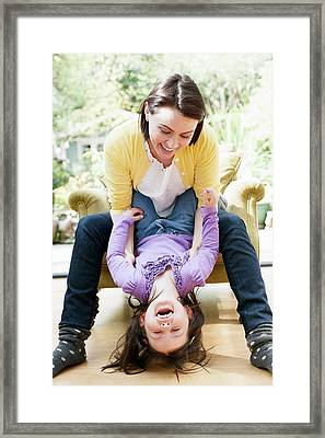 Mother Playing With Daughter Framed Print