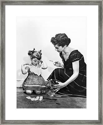 Mother Scolding Tearful Child Framed Print