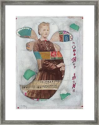 Mother Song Framed Print by Casey Rasmussen White