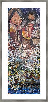Mother Spirit Framed Print by Leela Payne