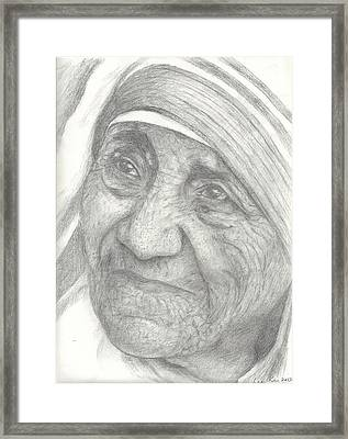 Mother Teresa Framed Print